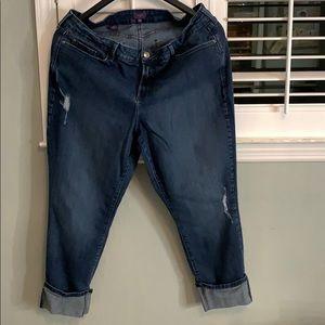 Distressed NYDJ plus size jean